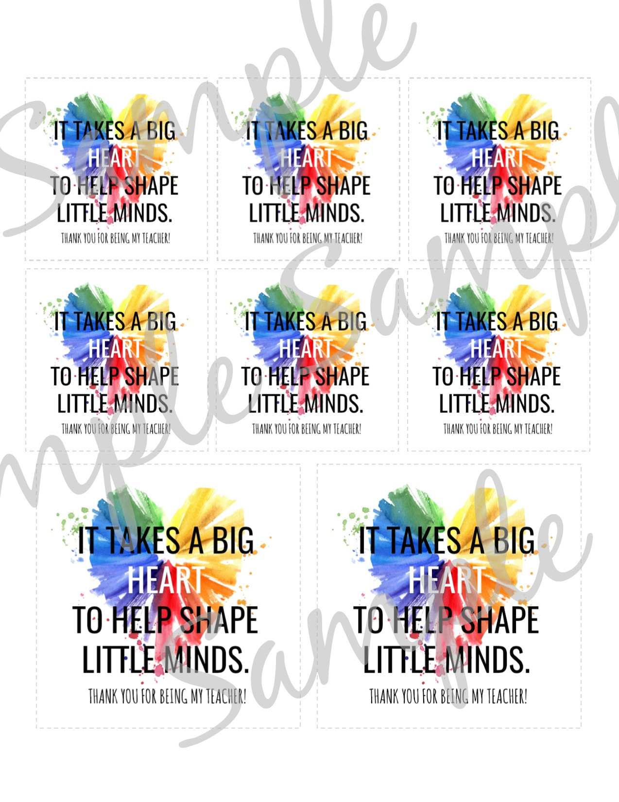 image relating to It Takes a Big Heart to Shape Little Minds Printable identify Massive Middle Trainer Apprec. Reward Tag Printable 1
